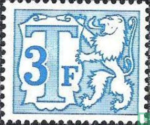 België [BEL] - Heraldieke leeuw en groot cijfer