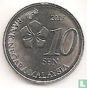 Malaisie - Malaisie 10 sen 2013