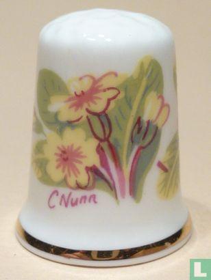 Bloemen - Handgeschilderd. - Image 1