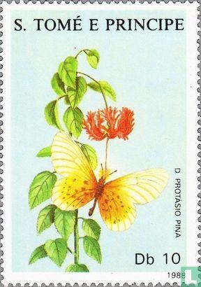 Sao Tomé en Principe - Bloemen en Vlinders