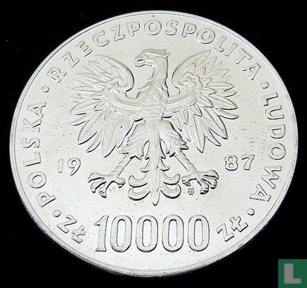"""Polen 10000 Zloty 1987 (Silber) """"Papst Johannes Paul II"""" - Bild 1"""