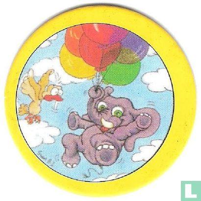 Olifant aan ballonnen - Afbeelding 1