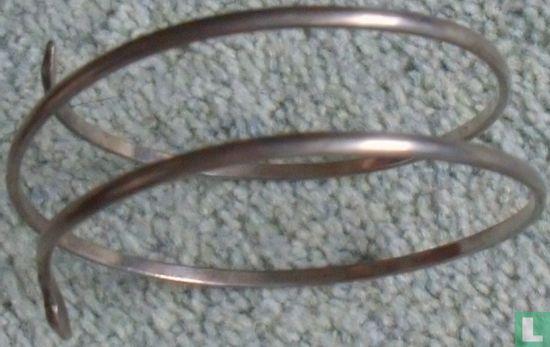 Zilveren slangen armband ( Surinaams zilver)  - Afbeelding 1