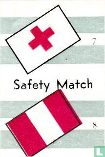 vlaggen van Internationale Rode Kruis en Peru - Safety Match