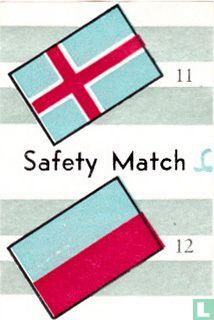 vlaggen van IJsland en ? - Safety Match