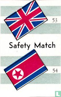 vlaggen van Verenig Koninkrijk en ? - Safety Match