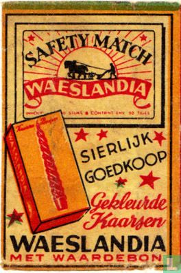 Waeslandia - gekleurde kaarsen