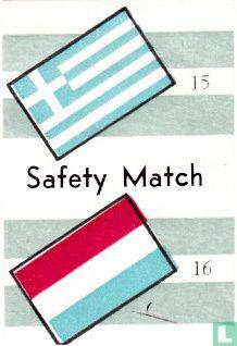 vlaggen van ? en Luxemburg - Safety Match