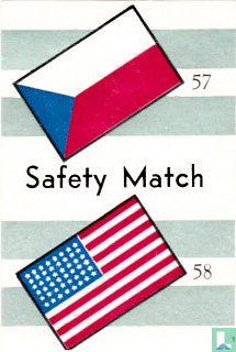vlaggen van Tsjechoslovakije en Verenigde Staten - Safety Match