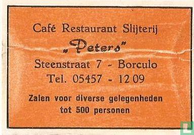 Café Rest. Slijterij Peters