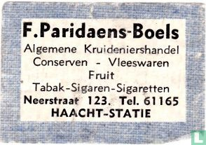 F. Paridaens - Boels - Image 1