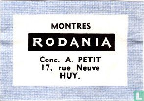 Montres Rodania - A. Petit