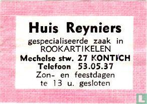 Huis Reyniers - Rookartikelen