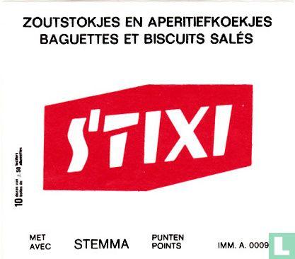 Zoutstokjes en aperitiefkoekjes Stixi
