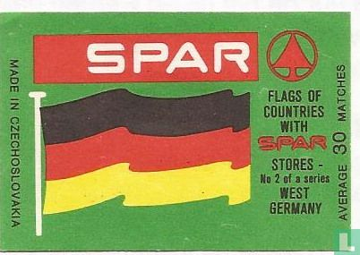 Flags of countries with Spar