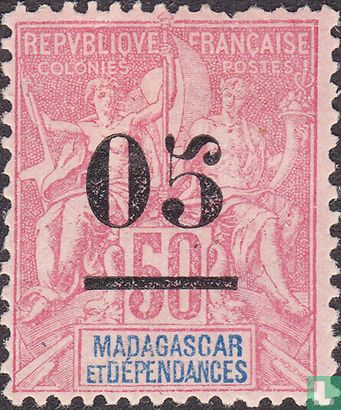 Madagascar - Shipping and trade, with surcharge
