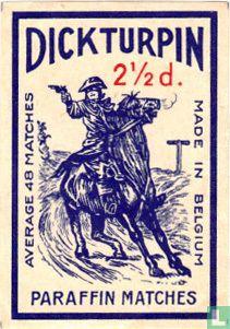 Dick Turpin paraffin matches 2 1/2d