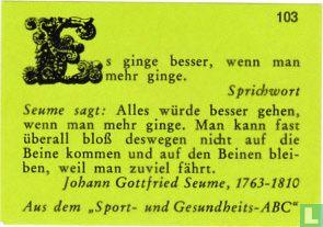 Es ginge besser... - Johann Gottfried Seume - Afbeelding 1