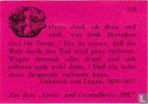 Oefters denk ich... - Friedrich von Logau - Afbeelding 1