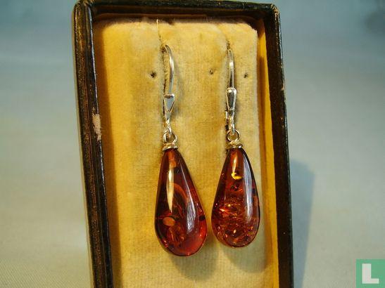 Bernstein Ohrringe Silber 925 Amber Earrings - Afbeelding 1