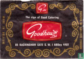 The sign of Good Catering Goodhews