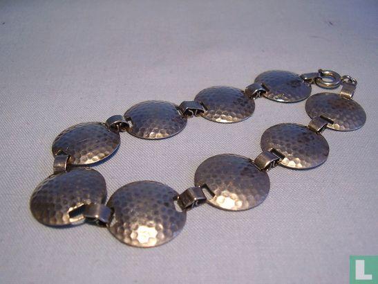 Art Deco Armband Silber 835 Hammerschlag Dekor - Afbeelding 1
