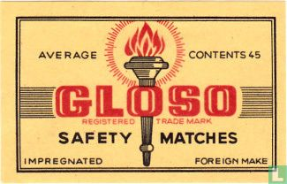 Gloso Safety Matches