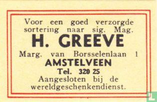 Sig. mag. H. Greeve