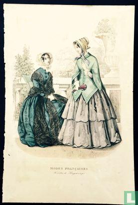 Toilettes de Longchamps, deux femmes à la terasse (1850-1853) - Bild 1