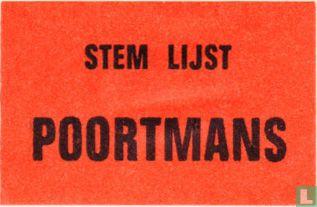 Stem lijst Poortmans