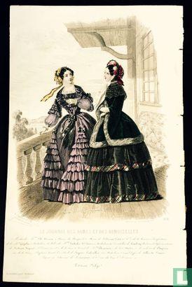 Modes de Mme Plé Horiau; Deux femmes sur la terasse (1850-1853) - 378 - Bild 1