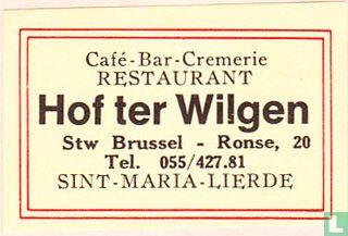 Café-Bar-Cremerie Restaurant Hof ter Willigen