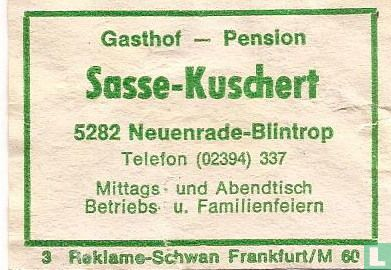 Gasthof Pension Sasse-Kuschert