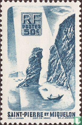 Saint-Pierre en Miquelon - Rots bij Langlade
