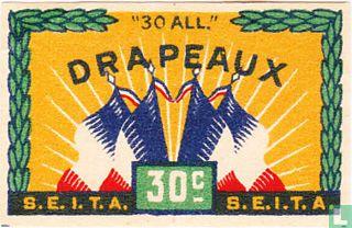 Drapeaux 30c
