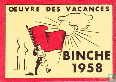 Oeuvre des vacances Binche 1958