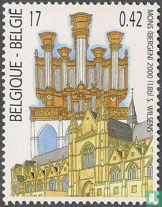 Belgien [BEL] - Delmotte Orgel und Stiftskirche Sainte-Waudru in Mons
