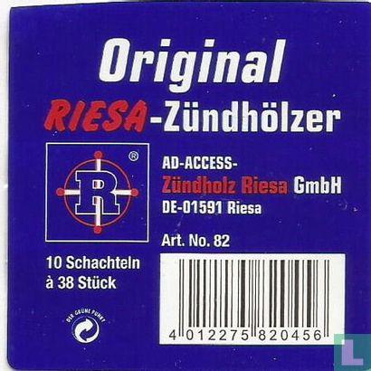 Original Riesa Zündhölzer - Afbeelding 1