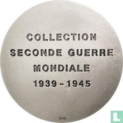 Commemorative tokens - France, WW2 Commemorative (3 Shields)  Collection Seconde Guerre Mondiale  La bataille pour l'Afrique  1939-1945