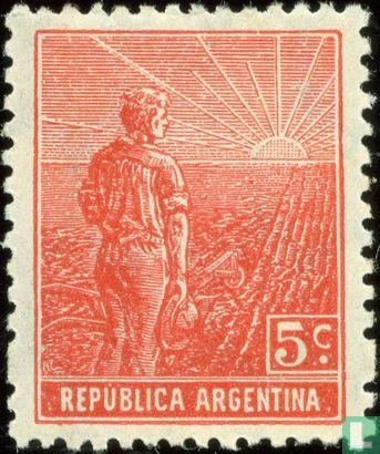 Argentina [ARG] - Farmhand with radiant Sun