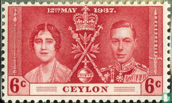 Ceylon - Kroning van George VI