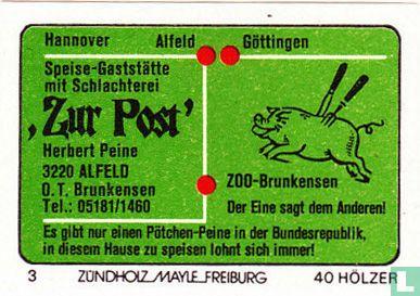 """Speise-Gaststätte """"Zur Post"""" - Herbert Peine"""
