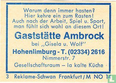 Gaststätte Ambrock - Gisele u. Wolf