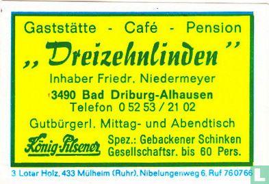 """Gaststätte """"Dreizehnlinden"""" - Friedr. Niedermeyer"""