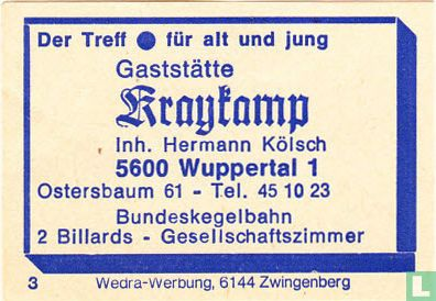 Gaststätte Kraykamp - Hermann Kölsch