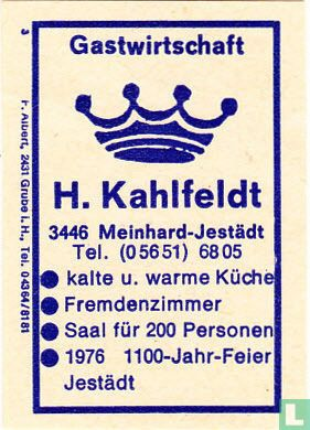 Gastwirtschaft H. Kahlfeldt