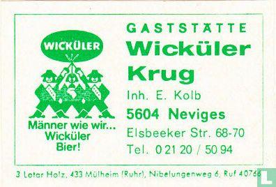 Gaststätte Wicküler Krug - E. Kolb