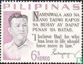 Philippinen - Präsident Magsaysay