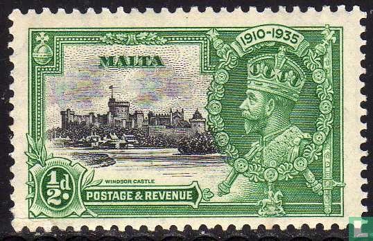 Malta - Koning George V - Zilveren jubileum