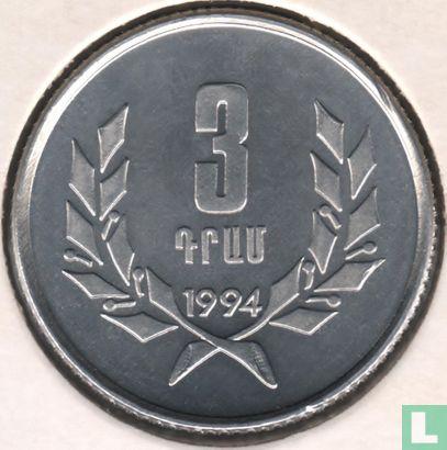 Armenië 3 dram 1994 - Afbeelding 1